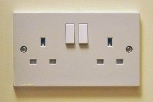 A picture of a UK plug socket