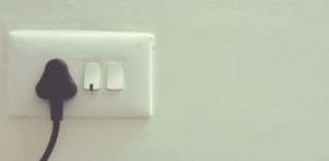 A picture of a plug socket