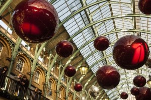 A Christmas display in Covent Garden