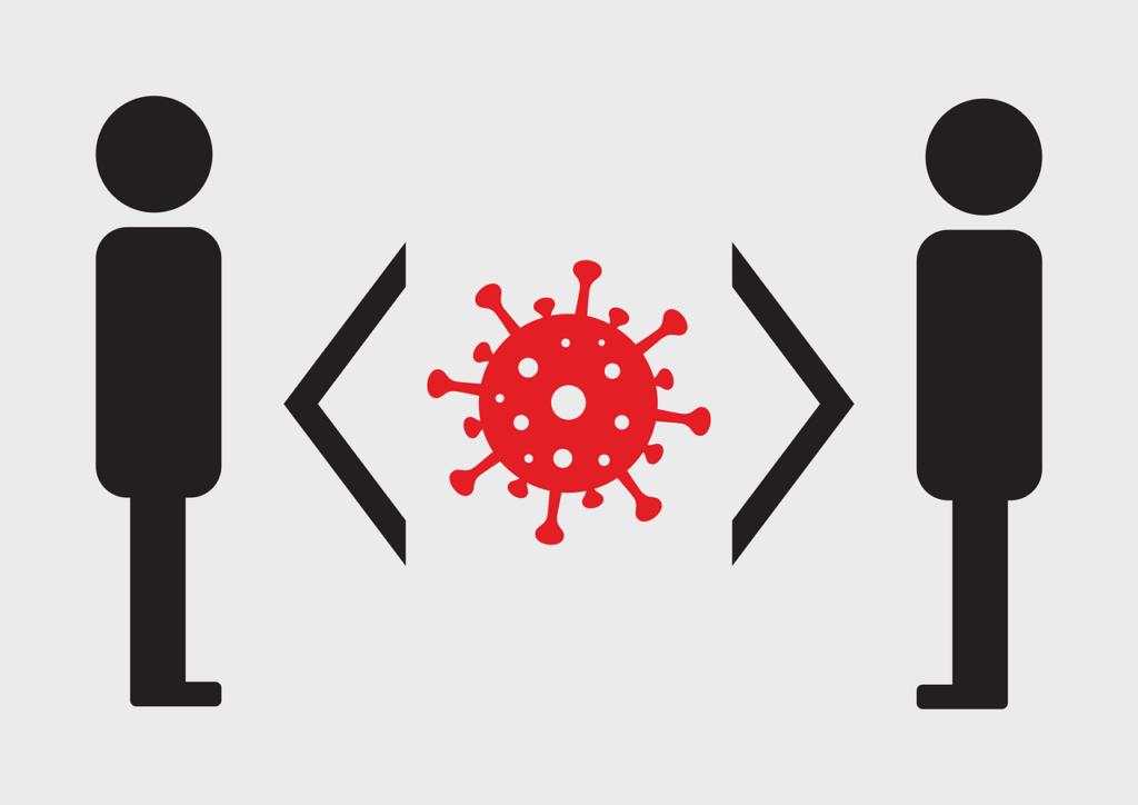 image of two people social distancing during coronavirus lockdown