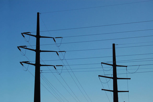 image of two power lines